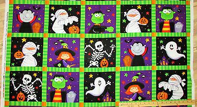 Happy Haunting Squares Halloween Northcott Fabric  23