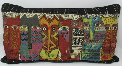 LAUREL BURCH Wild Cats Oblong Throw Pillow 24 x 13 Tapestry Brentwood Originals