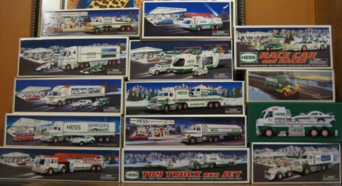 Lot of 14 Hess Trucks in MINT condition ORIGINAL ALL THE WAY TO 2016. BRAND NEW
