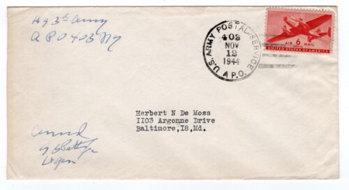 Lt General George S Patton Jr. 1944 Censored Autograph HQ 3rd Army WWII - RARE