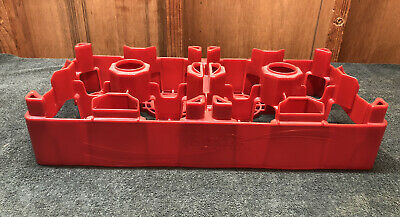 Coca-Cola Husky Huskylite Red Plastic Crate Carrier Coke Soda Pop Advertising