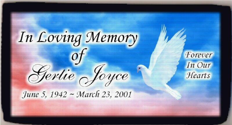 Personalized Custom In Loving Memory RIP Dove Peace Checkbook Cover Beautiful