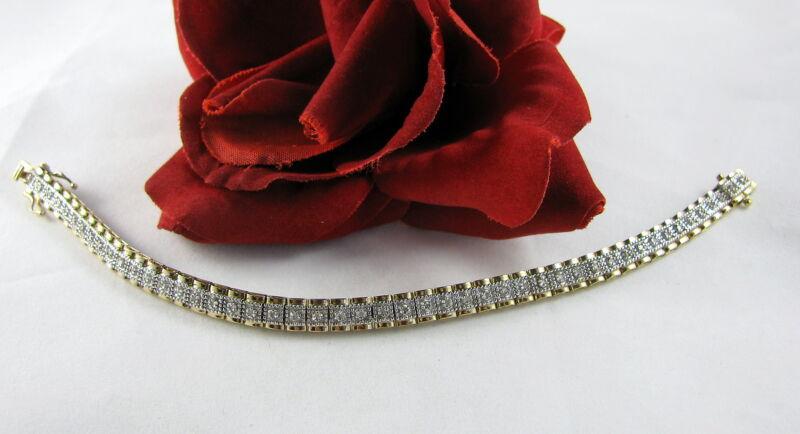 Sterling Silver Vermeiil Sparkling 15g Bracelet FERAL CAT RESUCE