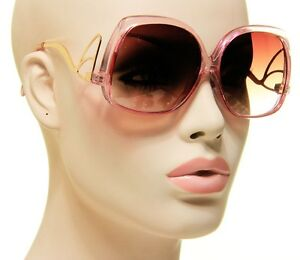 New-70s-Gold-Wing-Oversized-Sunglasses-Gold-and-Pink-Frame-Brown-Lens