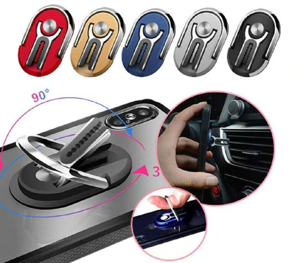 Mobile Phone Bracket Multipurpose Rotating Ring Holder Car Vent Clip Phone Mount Cell Phone Accessories