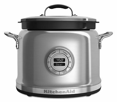 KitchenAid Multi-Cooker RKMC4241SS 4-Qt All-inOne Cooking System Stainless Steel