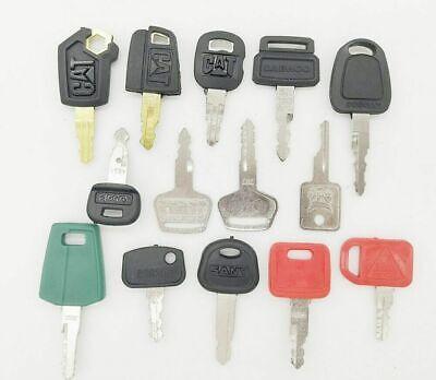 14 Heavy Equipment Key Set Construction Ignition Keys For Cat Volvo Deere Kubota