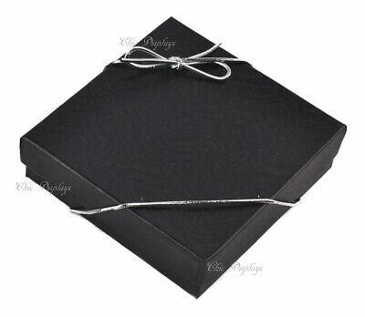 500pc Black Cotton Filled Jewelry Boxes Black Gift Boxes Bracelet Box Free Bows