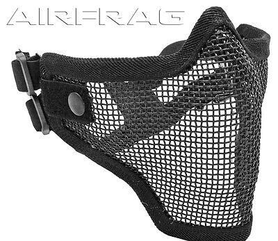 Tactical Crusader MASK2B 2G Strike Steel Half Mask. Black
