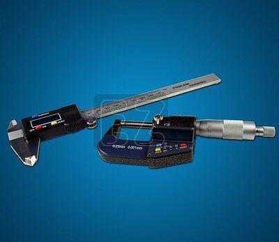 0-6 Digital Caliper 0-1 Digital Micrometer Set Lcd