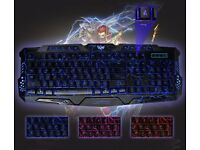 Gaming Keyboard Wired Three Color Backlight M200 Multimedia Ergonomic gaming keyboard