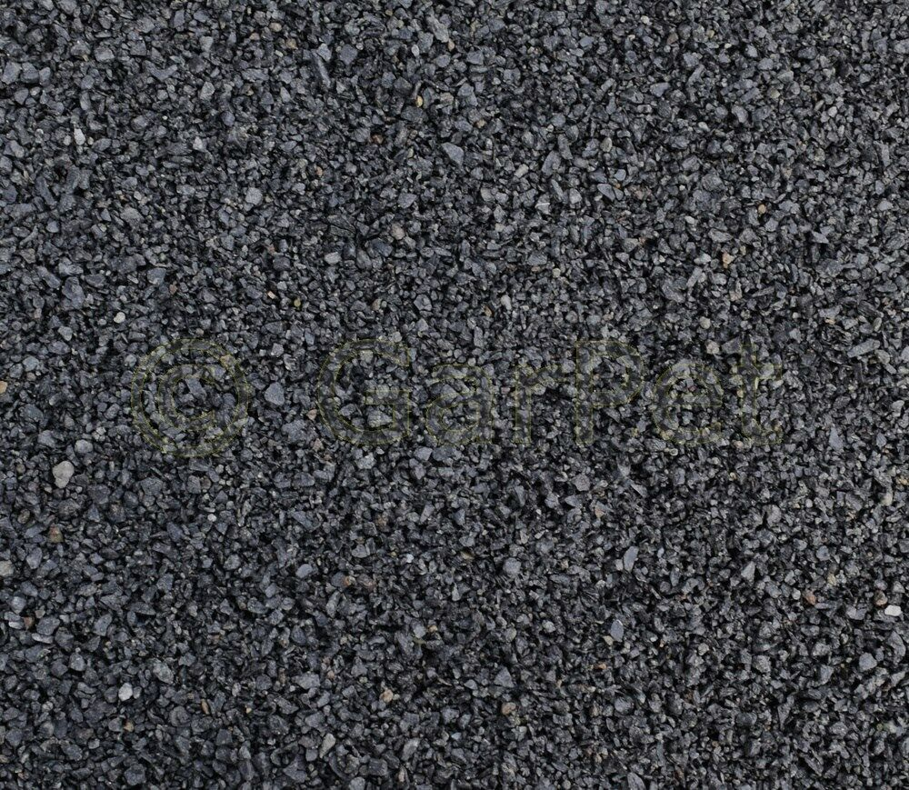 Natur Kies Basalt schwarz Bodengrund Zierkies Garten Aquarium 2 - 3 mm 5 25 kg