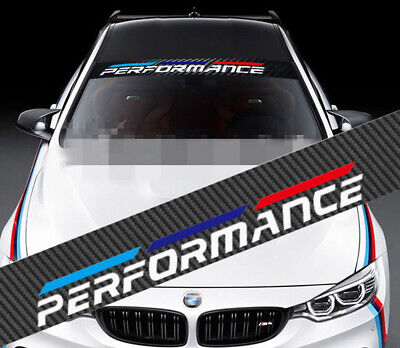 M-Sport Front Window Windshield Carbon Fiber Vinyl Banner Decal Sticker for BMW