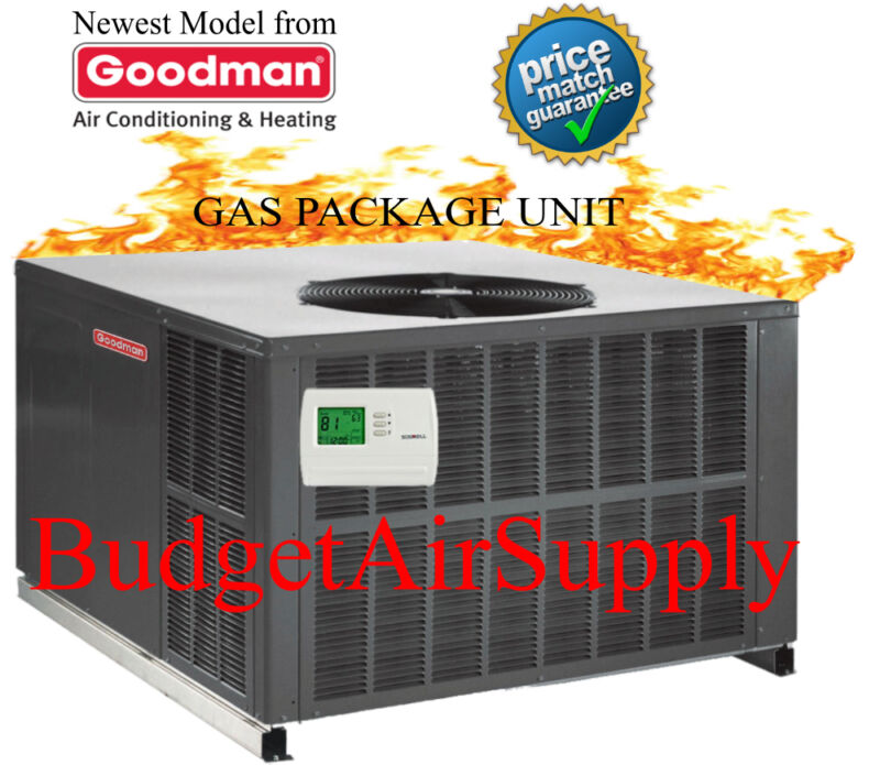 4 Ton Goodman 14 Seer Gas/elec Package Unit 81% 80k Btu Gpg1448080m41 Gaspack