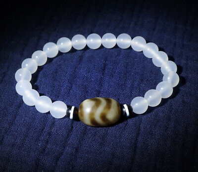 Leather Adjustable Beaded Bracelet Tibetan Brass FreewheelingSpirit Natural Jade