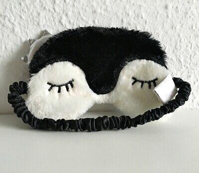 Pinguin Schlafmaske Schlafbrille Reise Ostern Geschenk Schwarz Weiß - Pinguin Maske