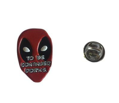 Deadpool To Be Continued Dorks Logo Colored Enamel Finish Metal Lapel Pin Marvel