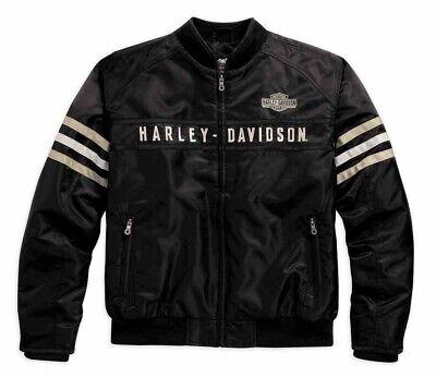 Harley-Davidson® Men's Heritage Nylon Bomber Jacket Small & XXL