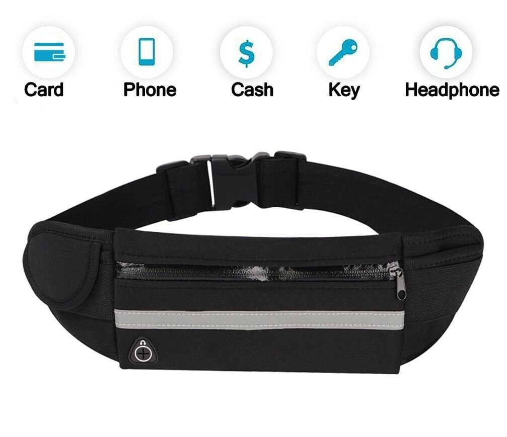 Workout Running Belt Waist Bag Fanny Pack for Men Women Spor