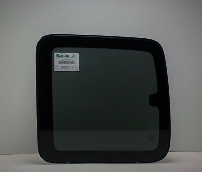 Rear Side Glass - OEM Rear Driver Side Quarter Window Glass for 99-07 2-DR Ext Cab Chevy Silverado