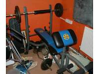 Marcy weight bench with 190k cast iron weight