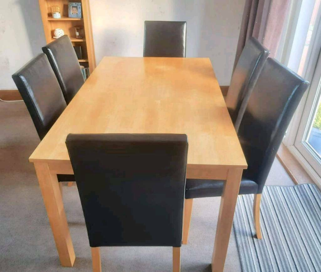 Beautiful 6 Seater Dining Table Chairs