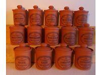 Terracotta Spice Jars
