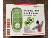 Wireless TENS Pain Reliever + 4 replacement pads
