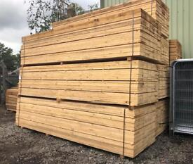 🌳 *New* 3.9M Wooden Scaffold Boards/ Planks X 100