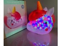NEXT. Unicorn light. Brand new in box Battery powered light moves around head £12