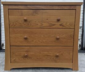 SILVER CROSS OAK THREE DRAW CHEST