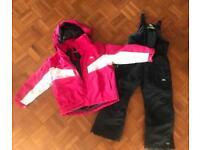 Trespass Ski Snow Winter Jacket and Salopettes age 3-4 years