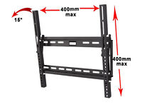 """Universal Slim TV Wall Mount Bracket with Tilt fits 26"""" up to 55"""" Flat Panel"""