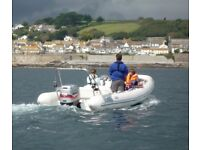 Avon Adventure D5.6 metre RIB with 115 bhp Mariner 4 stroke EFI outboard engine. (Year - 2003).
