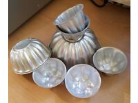 Set of seven jelly moulds