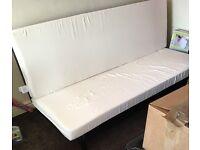 Black frame sofa bed