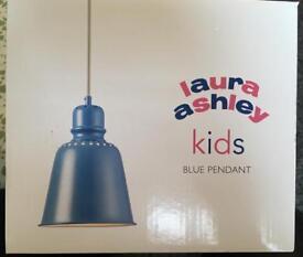 Kids blue lamp shade