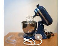 Kitchenaid Artisan Mixer 4.8L - Blue, hardly used