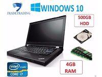 Laptop Lenovo Thinkpad T420 Core i7-2640M 4GB 500GB WINDOWS 10