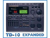 Roland TD-10 EXPANDED electronic V Drums module SUPERB brain with midi EXCELLENT