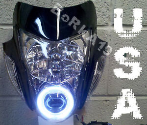Motorcycle Sonic StreetFighter Headlight HID HALO Projector