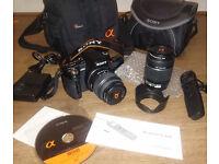 Sony Alpha 500 w/ 2 Lenses + Extras