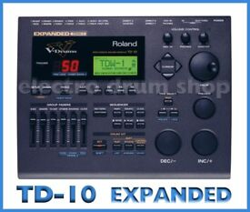 Roland TD-10 EXPANDED electronic V Drums module SUPERB brain with midi EXCELLENT triggering