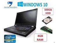 Laptop Lenovo Thinkpad T410 Core i7- 4GB 500GB WINDOWS 10 WEBCAM