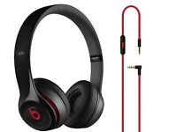 Dr Dre Solo 2 Black with Red Wired Headphones. RRP £122.99