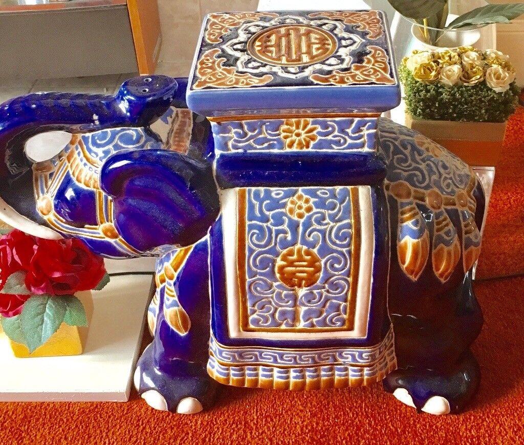 Ceramic elephant stool for sale