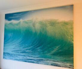 Large IKEA wave canvas print 200cm *140cm