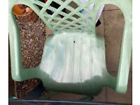 Garden Table and Chairs Green Plastic must go