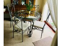 Glass dining table 4x chairs. FOR COLLECTION ONLY, open to offers!