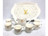 8PC TEA /COFFEE SET WITH TRAY